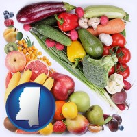 ms map icon and fruits and vegetables