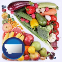 mt map icon and fruits and vegetables