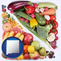 nm map icon and fruits and vegetables