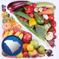 sc map icon and fruits and vegetables