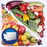 wa map icon and fruits and vegetables