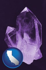 california an amethyst gemstone