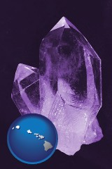 hawaii an amethyst gemstone