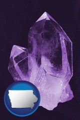 iowa an amethyst gemstone