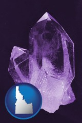 idaho an amethyst gemstone