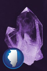 illinois an amethyst gemstone