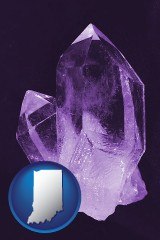 indiana an amethyst gemstone