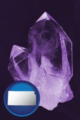 kansas an amethyst gemstone