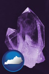 kentucky an amethyst gemstone
