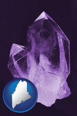 maine an amethyst gemstone