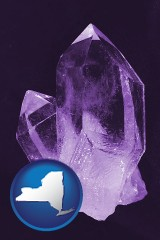 new-york an amethyst gemstone