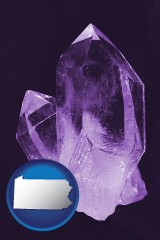 pennsylvania an amethyst gemstone