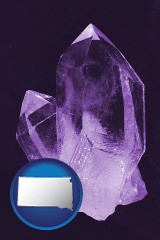 south-dakota an amethyst gemstone