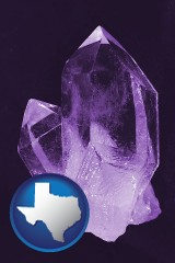 texas an amethyst gemstone
