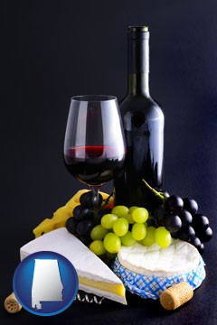 gourmet food and wine - with Alabama icon