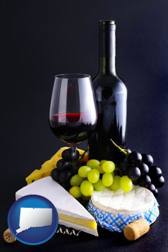 gourmet food and wine - with Connecticut icon