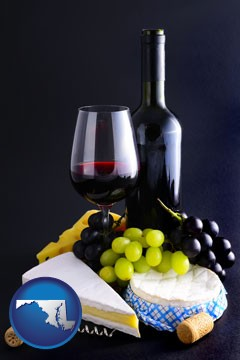 gourmet food and wine - with Maryland icon