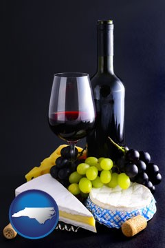 gourmet food and wine - with North Carolina icon