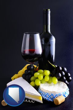 gourmet food and wine - with Nevada icon