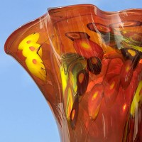 a hand-blown glass vase