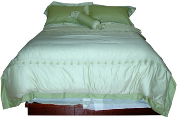 a hard-sided waterbed