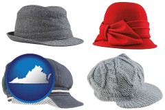 virginia fashionable caps and hats