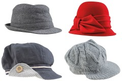 fashionable caps and hats