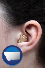 montana a woman wearing a hearing aid in her left ear