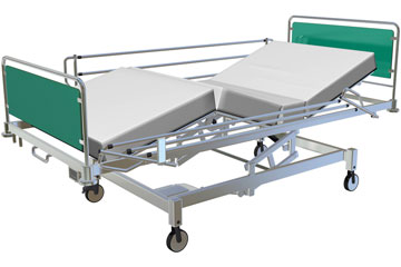 an adjustable hospital bed