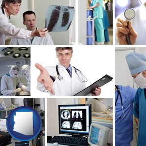hospital equipment and supplies - with Arizona icon
