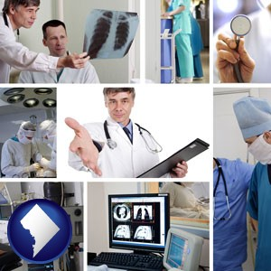hospital equipment and supplies - with Washington, DC icon