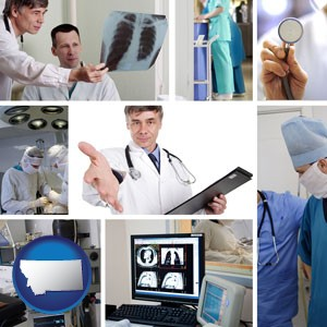 hospital equipment and supplies - with Montana icon