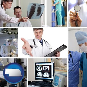 hospital equipment and supplies - with Nebraska icon