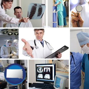 hospital equipment and supplies - with South Dakota icon