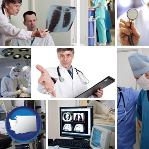 hospital equipment and supplies - with Washington icon
