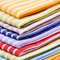 colorful linen towels