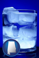 alabama a glass of ice water
