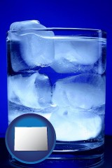 colorado a glass of ice water