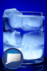 connecticut a glass of ice water