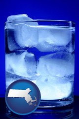 massachusetts a glass of ice water