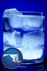 maryland a glass of ice water