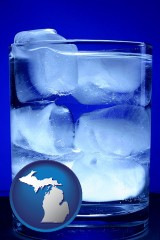 michigan a glass of ice water