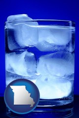 missouri a glass of ice water