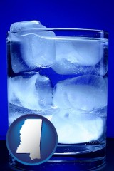 mississippi a glass of ice water