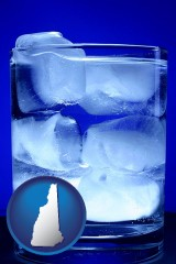 new-hampshire a glass of ice water