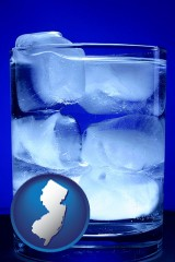 new-jersey a glass of ice water