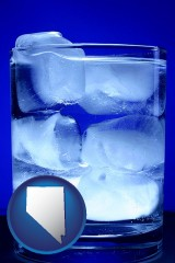 nevada a glass of ice water