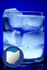 ohio a glass of ice water