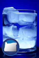 oregon a glass of ice water