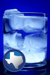 texas a glass of ice water